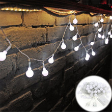 220V New year Christmas Light 10M 100LED Milky Ball LED Fairy String Indoor & Outdoor Garden,Party,Wedding Holiday Lights