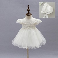 EMS DHL Free 2017 New Lace Tulle Baby Girls Kids Short Sleeve Party Dress Holiday Children