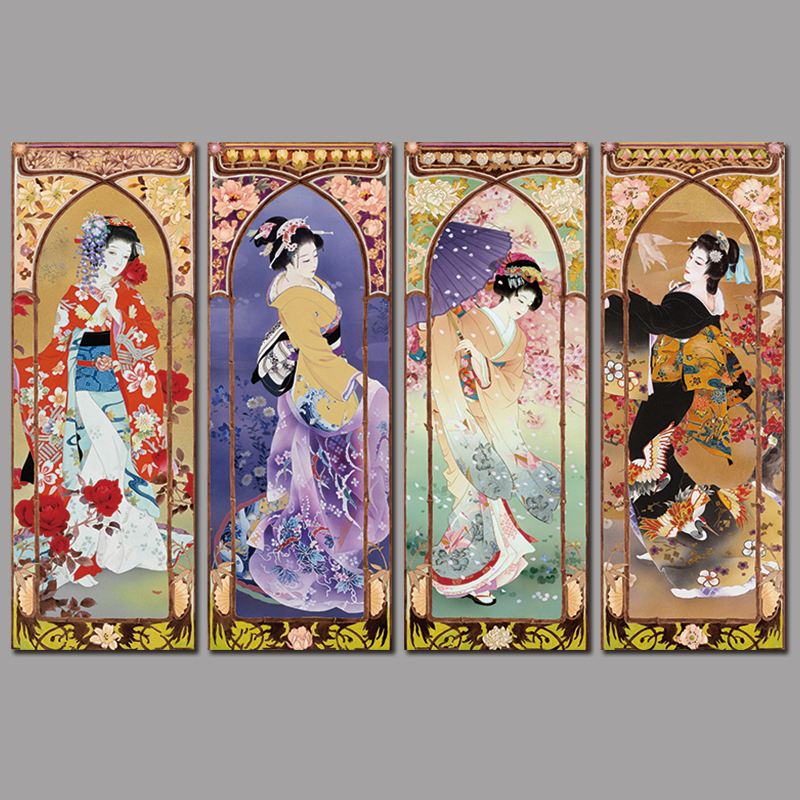 Japanese lady cloths wall decoration for Asian wall decoration