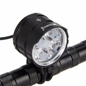 Solarstorm 8000lm 4x xml t6 led cabeça frente bicicleta lâmpada luz ciclismo lanterna tocha + 6x18650 bateria lanterna traseira