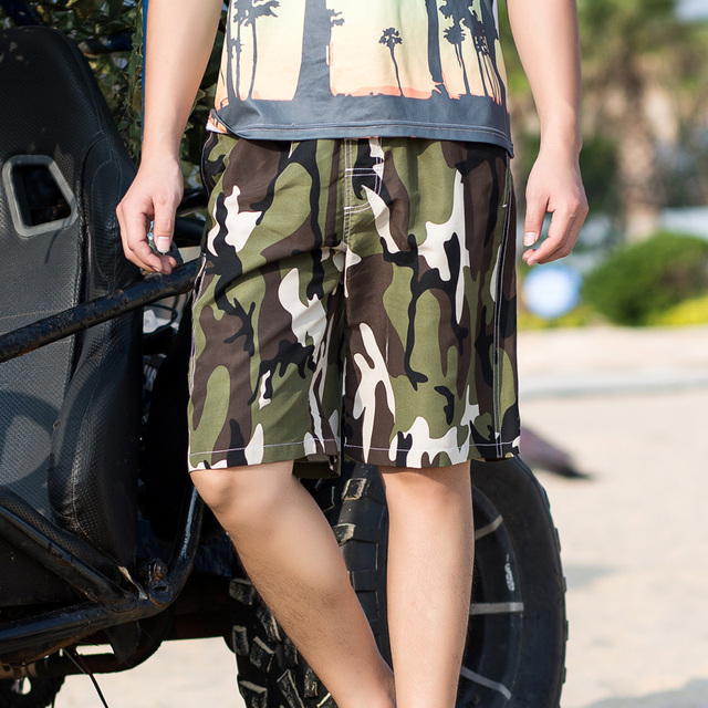 2017 Mens New Arrival Fast Dry Summer Beach Shorts Large Size Camouflage Leisure Male Beachshort Man Loose Shorts J1800