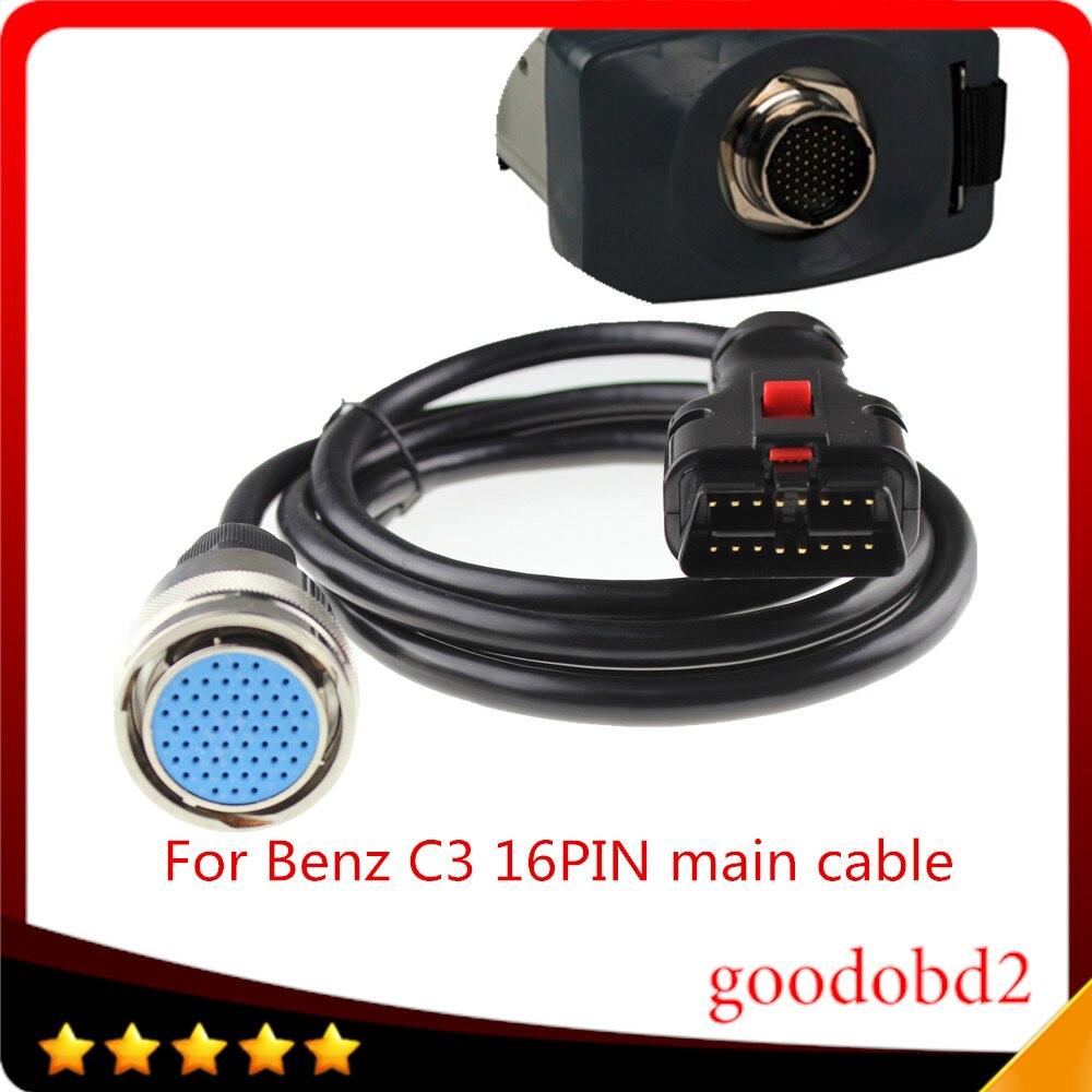 Prix pour Pour Benz MB Star C3 OBD2 16PIN Câble OBD II 16 Broches connecter mian test Câble de voiture de diagnostic scanner outil MB C3 obdii 16-pin câble