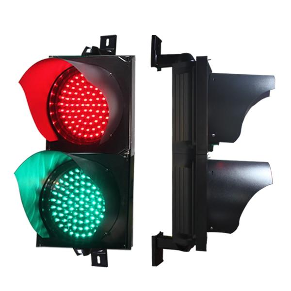 Red green solar traffic light 12-24VDC