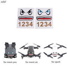 2pcs set font b Drone b font Body Shell Battery Stickers Decals Decorative Parts For DJI
