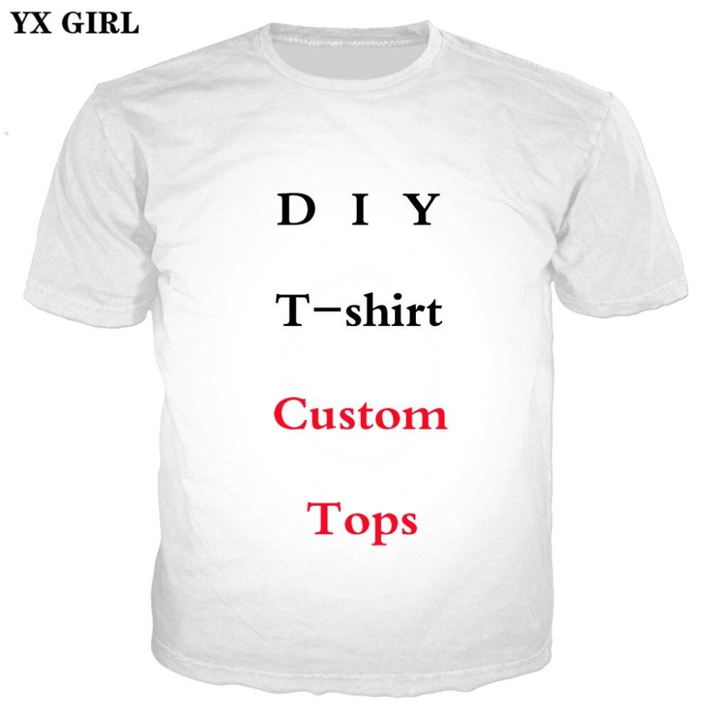 YX MÄDCHEN Mode 3D Print Brauch T-Shirts Sommer Kurzarm oansatz T-shirt Design Für Drop Verschiffen Und Großhandel Unisex Tops
