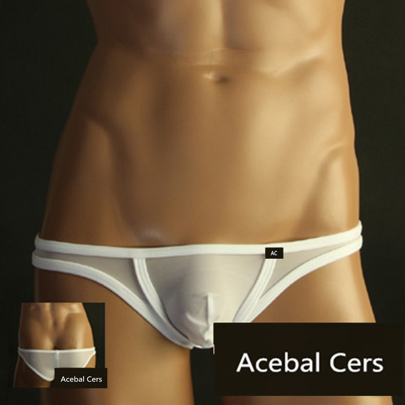 2019 Acebal Cers TM Gay Men Underwear Mens Underwear Transparent Mini Sexy Men Slip Manview Low Waist Cueca Gay Mens Bikini
