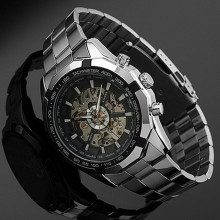 Stainless Steel Hand-Winding hollow Automatic Sport Mechanic