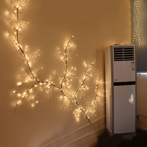 Image 5 - BEIAIDI 200 LED Solar Powered Vine Copper LED String Fairy Light Solar Watering Can Light Firefly Plants Tree Branch Fairy Light