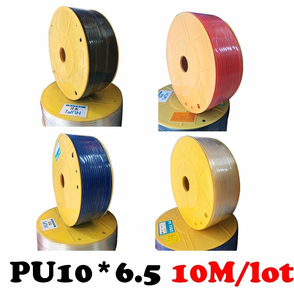 PU10*6.5   10M/lot Free shipping Air compressor inlet pipe Pu air pipe Air compressor inlet pipe Pu air & water Pneumatic parts free shipping 10pcs lot pu 6 pneumatic fitting plastic pipe fitting pu6 pu8 pu4 pu10 pu12 push in quick joint connect