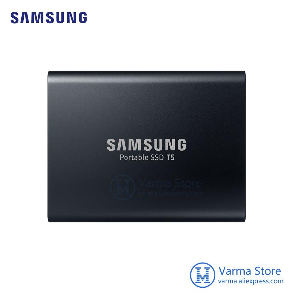 Samsung Mobile SSD T5 2 TB Salut-Vitesse USB3.1 Externe SSD Cryptage T5 2 TB PC Mobile double-utiliser