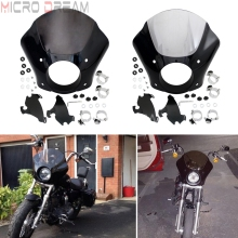 Motorcycle Headlight Fairing w/ 35mm-41mm Fork Bracket For Harley Dyna FXD 1988-2016 Sportster 883 Low Custom XLH 1200 883 86-16 цены онлайн