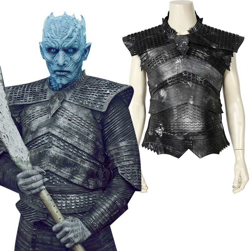 Game Of Thrones 8 Night King Costume White Walkers Cosplay Adult A Song Of Ice And Fire Halloween Only Vest Helmet Pants Shirt