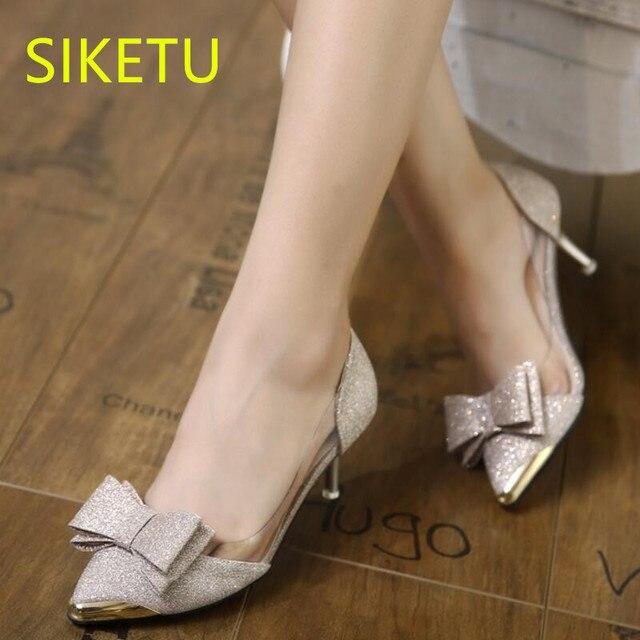 950a5de8 SIKETU Darmowa wysyłka Wiosna i jesień kobiety buty seks wysokie obcasy  buty letnie sandały buty ślubne