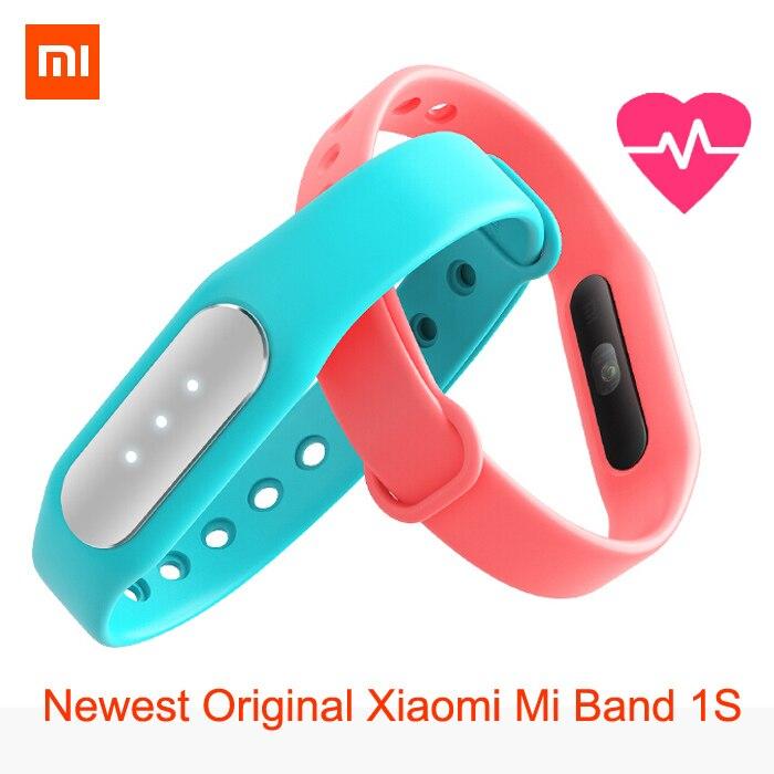 imágenes para Lo nuevo Original Xiaomi Mi Banda 1 S destacados monitor de ritmo cardíaco nueva pulseras inteligentes para iPhone Xiaomi Mi4 Mi4i Android 4.4 teléfono