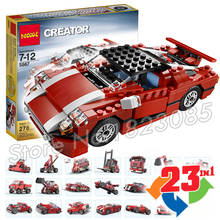 278pcs 23in1 Creator Red Car Super Speedster go-cart armoured cars Model Building Blocks Toys Compatible with Lego