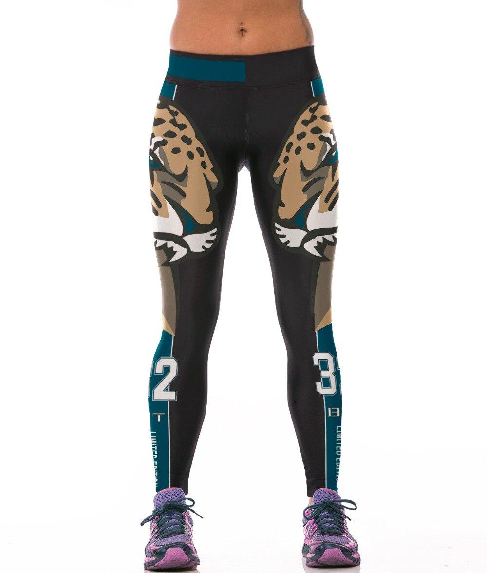 2016 Women American Football Pattern 3d Leggings Stretch: 2016 New Cheetah 3D Print Cheerleaders Sportswear Leggings