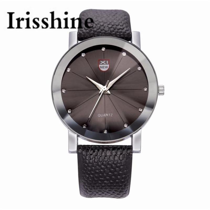 Irisshine C0458 Men font b Luxury b font Stainless Steel Quartz font b Military b font