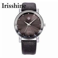 Irisshine C0458 Men Luxury Stainless Steel Quartz Military Sport Leather Band Dial Wrist Watch men Watches gift