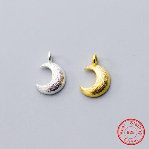 Uqbing 105*7*2 мм Красивые серебряные подвески с золотой луной