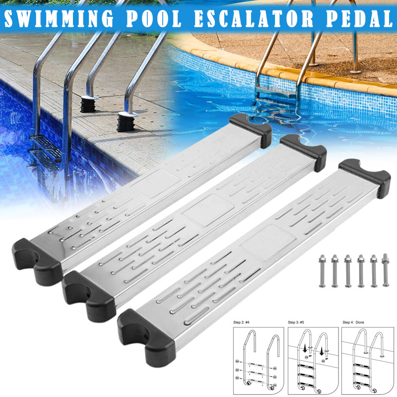 2020 Stainless Steel Swimming Pool Pedal Replacement Ladder Rung Steps Anti Slip Accessories Store