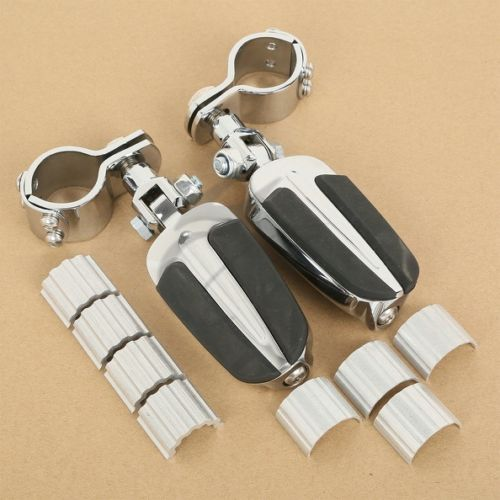 Chrome Foot Pegs Clamps For Honda GL1800 01-11 VLX600 DLX600 Shadow VT600 VT750 chrome lion paw foot pegs