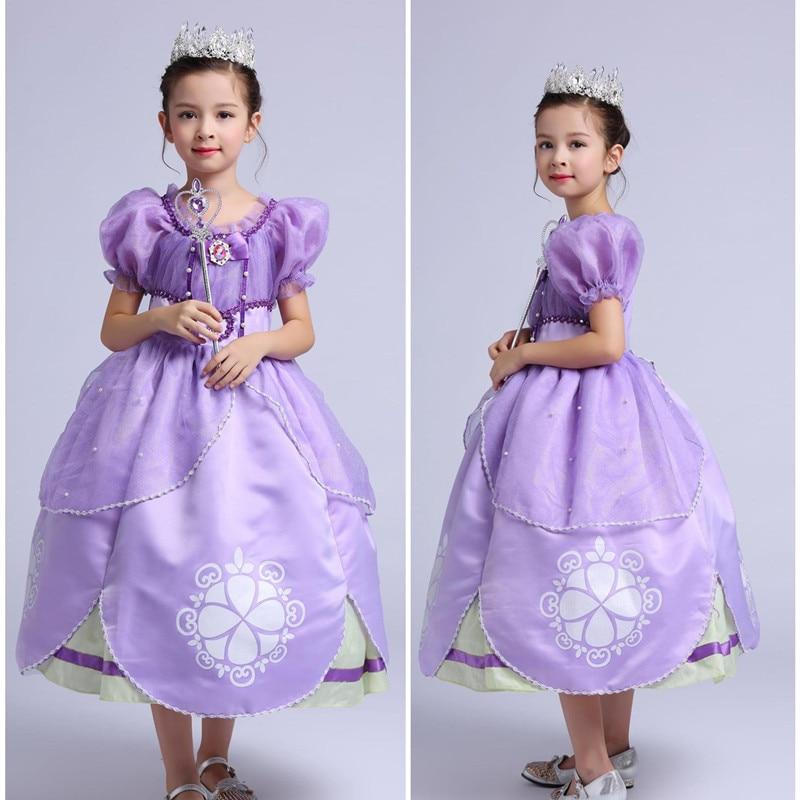 Niños Princesa Sofía el primer traje Halloween Cosplay Fancy vestido ...