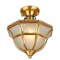 High Brightness Modern Ceiling Lights Ceiling Led Lamp Living Room Lights Retro Warm Simple Copper Ceiling