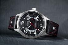 Новый Parnis Сапфир 43 мм Черный Белый Циферблат Автоматический Механизм мужские Наручные Часы