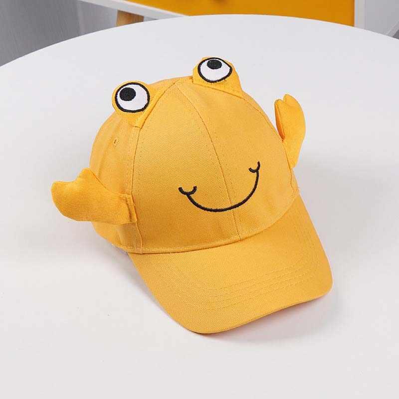 Doitbest od 2 do 8 lat dziecko czapka z daszkiem Hip Hop jesień cartoon mały krab dla dzieci kapelusz dla dzieci chłopcy dziewczęta czapki snapback kapelusze