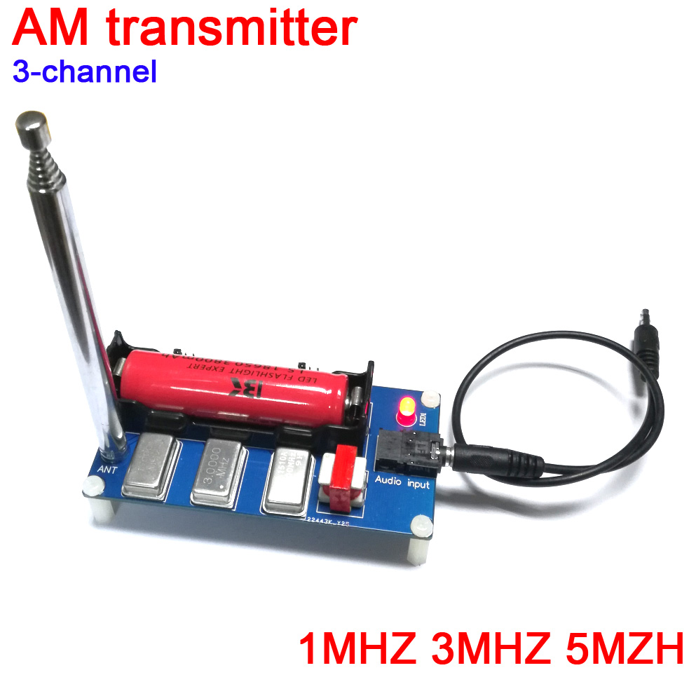 DYKB 3-channel AM Transmitter 1MHZ 3MHZ 5MZH With Antenna For Radio Receive Player Transmitter Or Phone