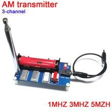 DYKB transmisor AM de 3 canales, 1MHZ, 3MHZ, 5mzh con antena para receptor de radio, reproductor, transmisor o teléfono