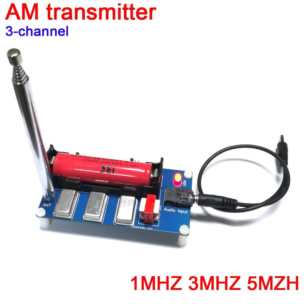 Transmisor AM de 3 canales DYKB 1 MHZ 3 MHZ 5MZH con antena para receptor de radio transmisor o teléfono