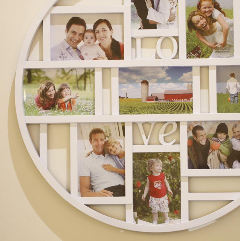 Heißer verkauf runde kombination rahmen 9 fotos rahmen 53x53 cm 6 ...