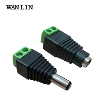 WAN LIN 10 Pairs(20pcs) DC Male Female Led Connector Solderless CCTV Accessories for Led Power Supply Adapter and Strip