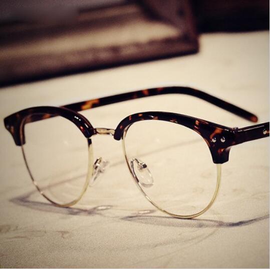 d917943da579 Vintage Half-frame Glasses Women Brand Designer Retro cat eye style Frame  Glasses Men Eyeglasses Optical Eyewear Oculos Gafas