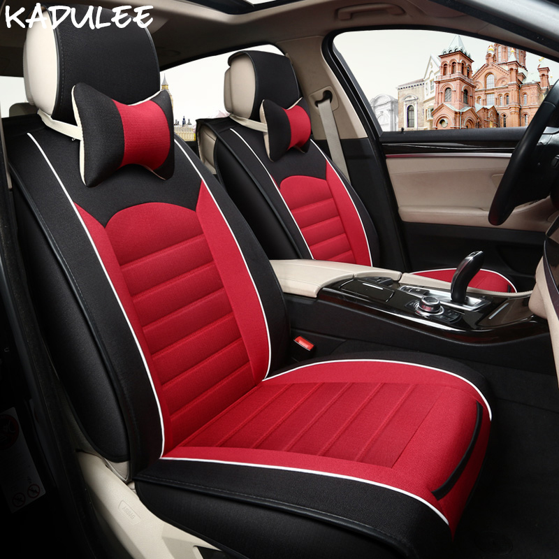 Kadulee универсальное автокресло крышка для Mitsubishi Lancer 10 ASX Pajero 4 2 Outlander XL автомобильные аксессуары авто чехлы на сиденья укладки
