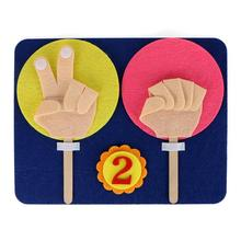 Children Maths Toys Finger Counting 1-10 Learning Kindergarten Mathematics Educational Toy Numbers Set Teaching Aid