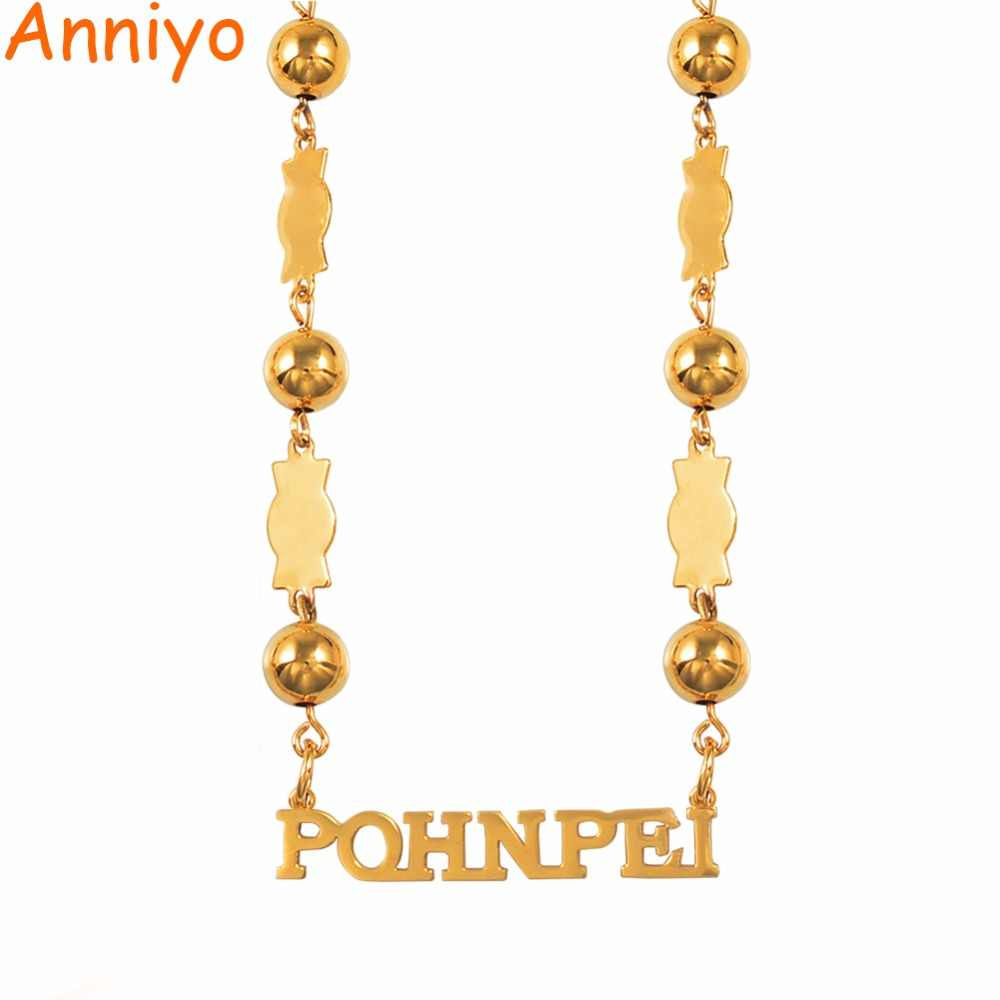 Anniyo Pohnpei Island Micronesia Beads Chain Necklaces Jewelry for Women Ponape Gifts Trendy Items #057821