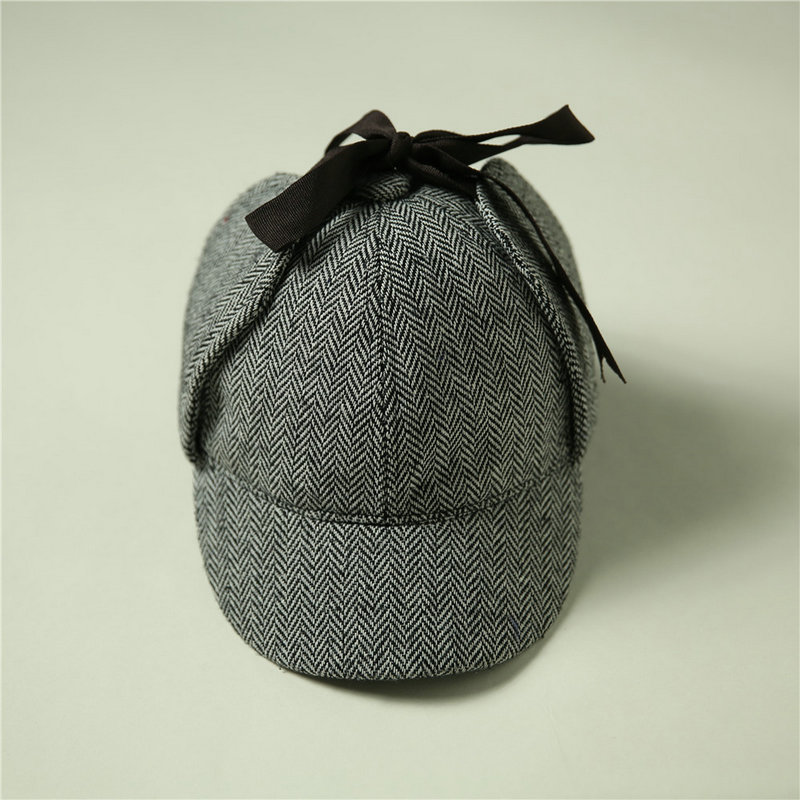 New High Quality Fashion Cap Detective Sherlock Holmes Deerstalker Hat Womens Mens Gray Cups