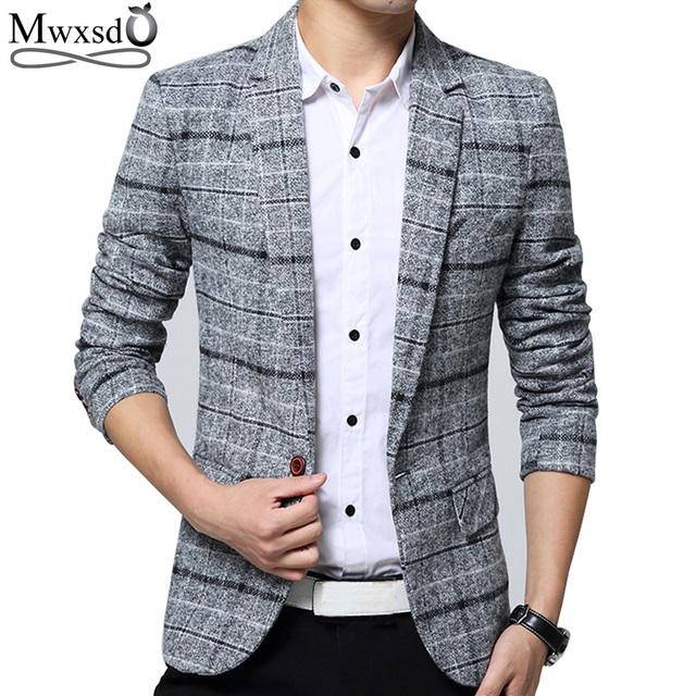 Mwxsd Quality Autumn Suit Blazer Men