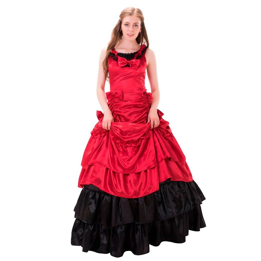 Dame Elegante Vintage Victorian Lolita Kleid Abend Party Belle Kleid ...