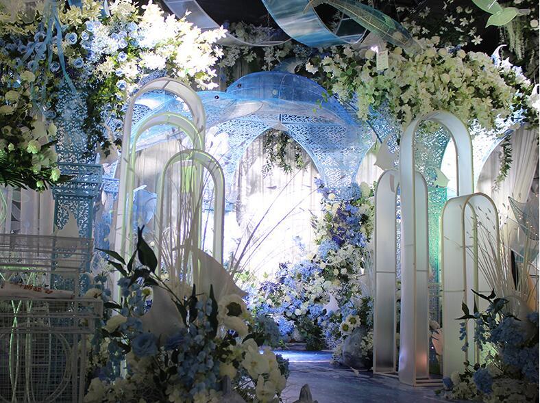 Nouveaux accessoires de mariage fer art PVC arc thème de mariage piste route plomb décoration scène aménagement.
