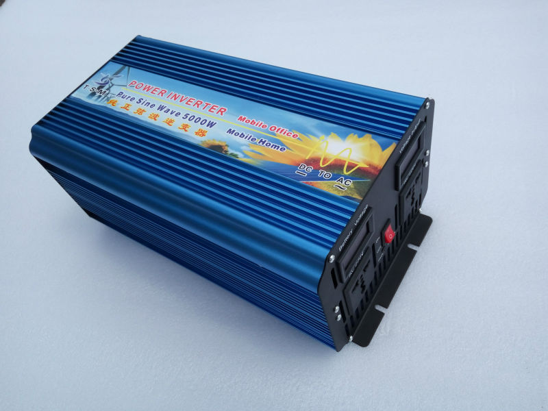 5000 watt/10000 watt peak DC 12 v zu AC 220 v Reine Sinus welle solar-wechselrichter 5000 watt power inverter Doubel Digital Display