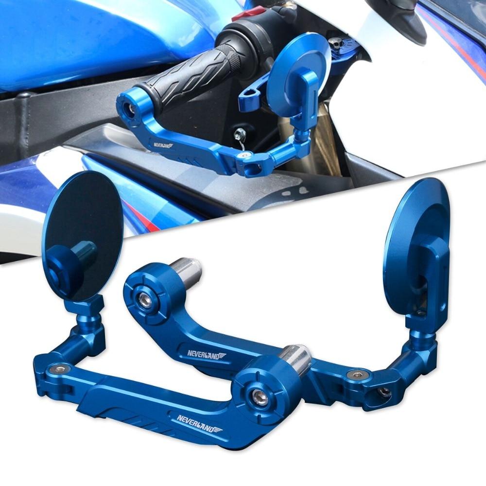 NEVERLAND AltronGuard 7 8 Motorcycle Adjustable Brake Clutch Levers Protector Guard for Kawasak Suzuki Yamaha Rearview