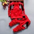 2016 Otoño Nueva Ropa de Bebé niño de manga larga de Cebra camiseta + Pantalones rayados Recién Nacido Bebés de los niños Sistema de la ropa