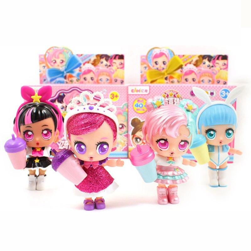 Original EAKI Genuíno lol DIY boneca Crianças Bola De Brinquedo com Caixa de brinquedos Puzzle Brinquedos para menina Lols bonecas de aniversário Das Crianças presentes de natal