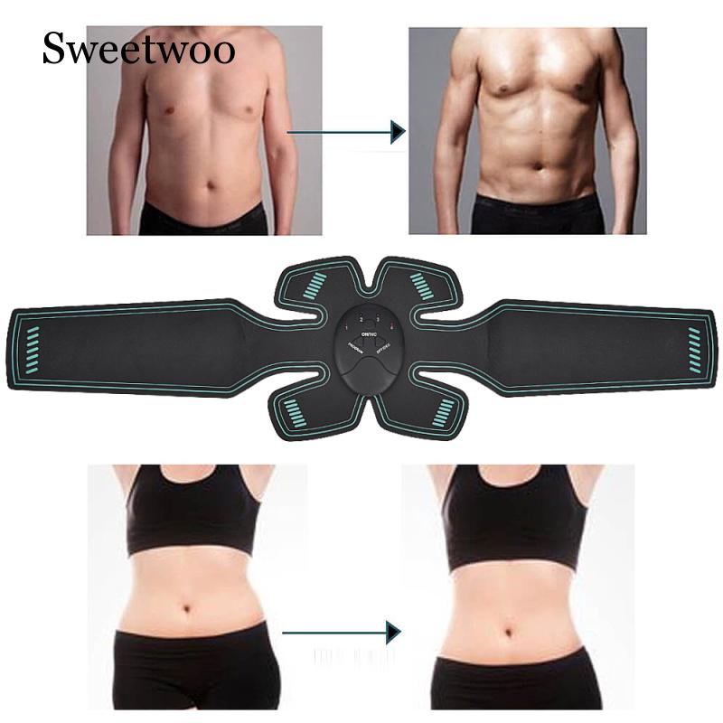 Smart EMS Electric Muscle Simulator Massage Abdominal Muscle Press Trainer Sports Academy Gym Home Exercise Fitness Body Machine