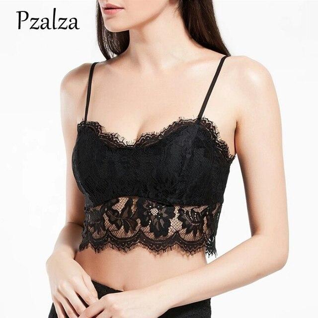 c2f93ec8c59 Pzalza Full Coverage Bra Women Sexy Lace Bra Top Soft WireFree Vest Sumer  Outside Wear Women