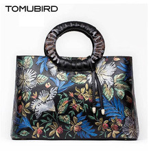 Tomubird2016 new high-quality fashion luxury brand shoulder diagonal cross genuine leather bag counte genuine, female well-known