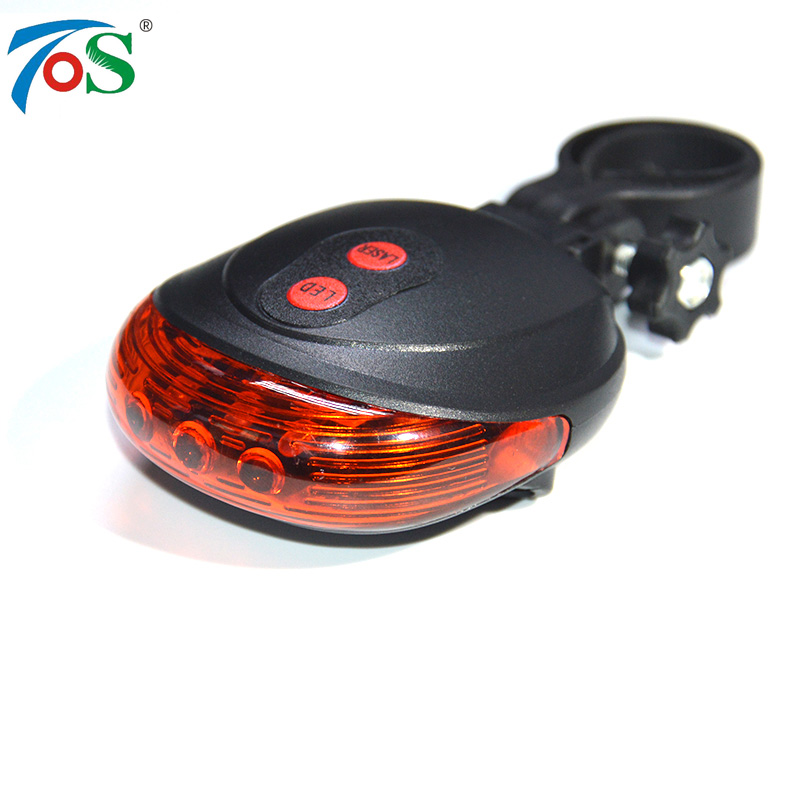 Bike-Accessories Laser-Back-Tail-Lamp Bicycle Rear-Light 2-Laser 2-Color LED New 5 Mode